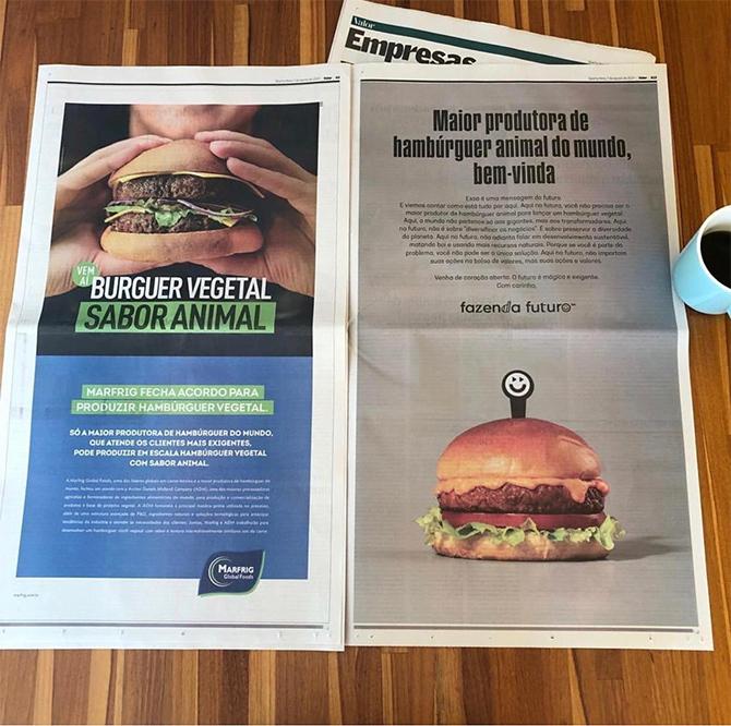 Marfrig divulga novo hambúrguer 100% vegetal de forma presunçosa e Fazenda Futuro responde 2